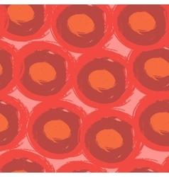 Round stroke seamless pattern Textile grunge vector image