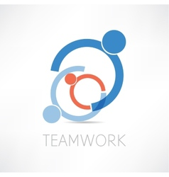 teamwork icon vector image vector image