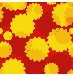 Yellow Flowers Seamless vector image