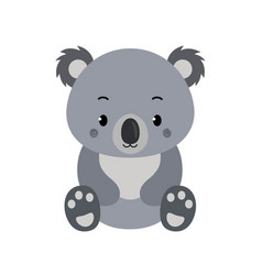 Adorable koala in flat style isolated on white vector