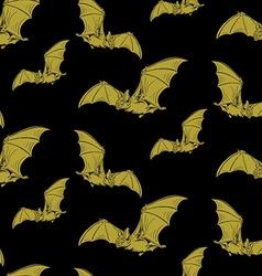 Bat pattern vector image