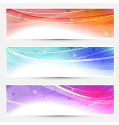 Collection web headers footers connection vector