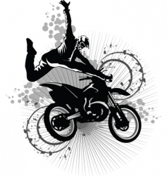 dirt bike vector image vector image