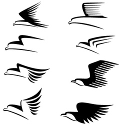 eagle sign vector image vector image