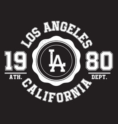 los angeles california typography for t-shirt vector image