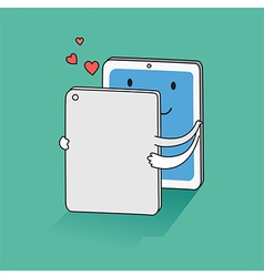 Love On Screen vector image