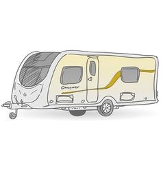 Towing Caravan vector image