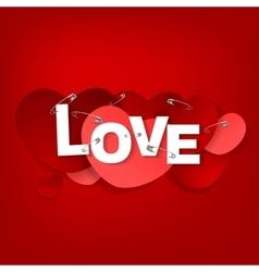 14 pinned heart vector