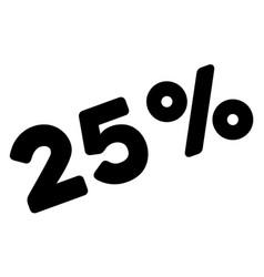 25 percents icon vector image