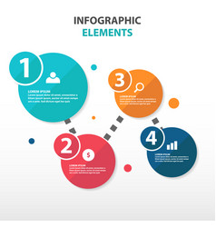 Abstract circle flow chart business infographics vector
