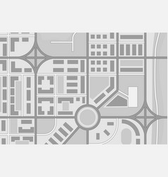 Abstract city map black and white vector