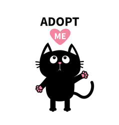 adopt me dont buy pink heart black catwiving hand vector image