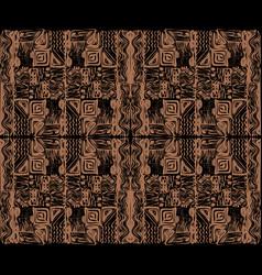 African tribal aborigines beige ornament vector