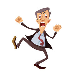 angry businessman yelling vector image
