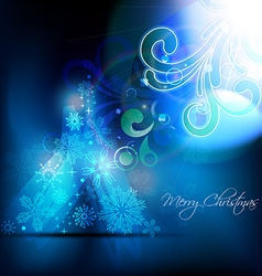 artistic christmas background vector image