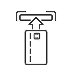 ATM card slot icon vector