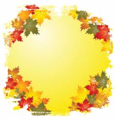 Autumn leaf boarder vector