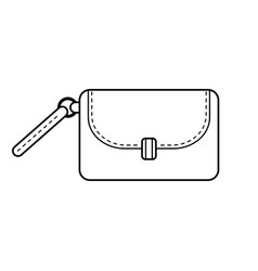 Bag fashion accessory black and white flat vector