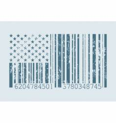 Barcode flag vector