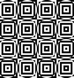 Black and white alternating circles cut through vector image
