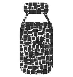 bottle collage of squares and circles vector image