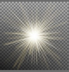 bright shining star bursting explosion vector image