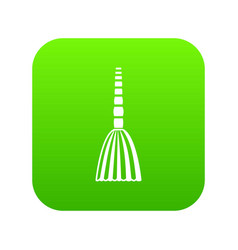 Broom floor icon digital green vector