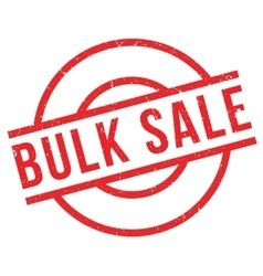 Bulk Sale rubber stamp vector