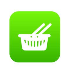 cart shop icon green vector image