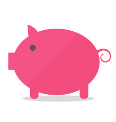 cartoon pig in flat style isolated on white vector image