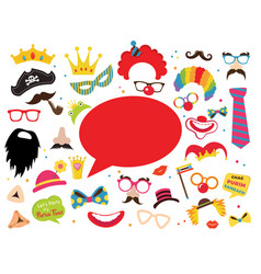 colored and isolated carnival photo booth party vector image