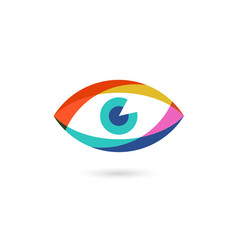 Colorful eye or eyeball icon vector