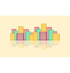 Colorful urban city design flat vector