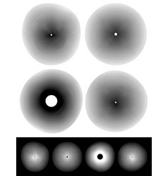Concentric circles with deformation and effect vector