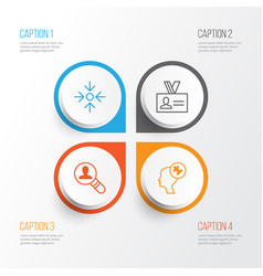 Corporate icons set collection of authentication vector