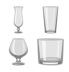 Design of capacity and glassware symbol vector