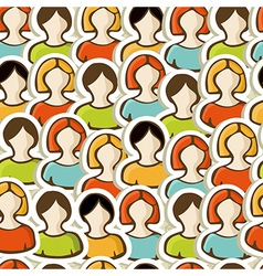 Diversity people pattern background vector