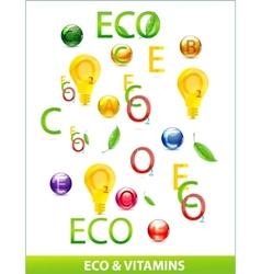 Eco vitamins set vector