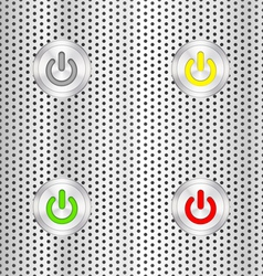 Electric start button vector image