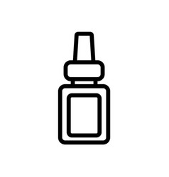 eye drops icon isolated contour symbol vector image
