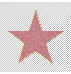 Fame star on transparent background vector