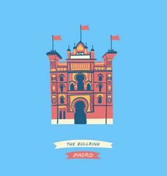 Famous bullring located in madrid vector
