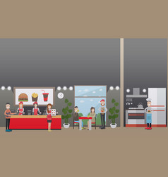 Fast food restaurant concept flat vector