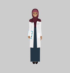 female character of infectiologist vector image