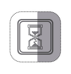 figure emblem hourglass cursor vector image