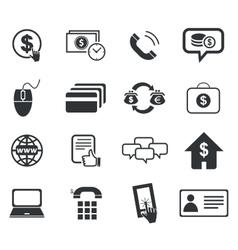 Finance icon set 5 simple vector
