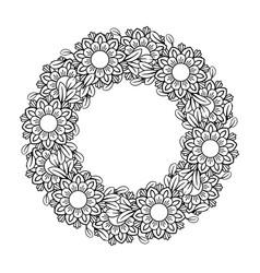 Floral mandala pattern vector