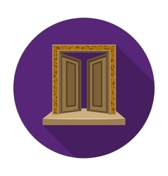 Gates to Valhalla icon in flat style isolated on vector image