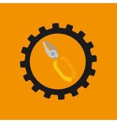 gear construction tool repair icon vector image