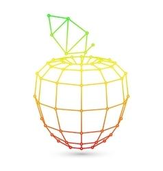 Geometric Mesh Apple vector